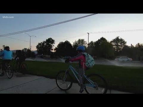 Anser Charter School students walk and bike to school