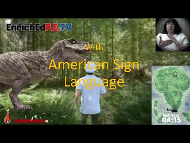 [American Sign Language Version] PE Chef: DINO RUN!! Escape from Isla Cocina [Virtual Run]