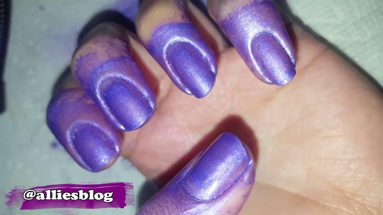 Spray on nail polish china glaze nail spray reviews - Manicure Monday 26 China Glaze Coloured Nail Spray Purple Shimmer Does It Work