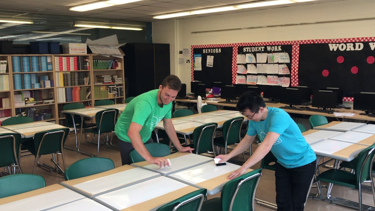 Whiteboard Desks - Think Board School Desk Install ...