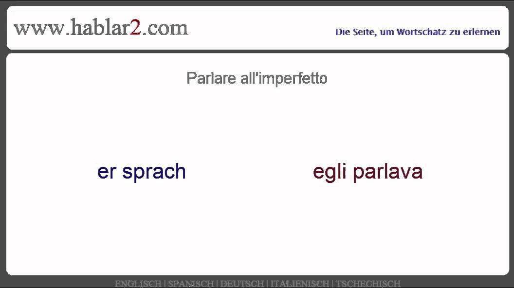 imperfetto italienisch