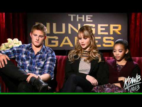 KDWB's Falen s Alexander Ludwig, Jennifer Lawrence & Amandla Stenberg from The Hunger Games