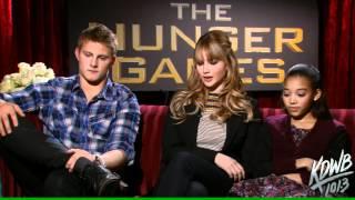 KDWBs Falen Interviews Alexander Ludwig Jennifer Lawrence  Amandla Stenberg from The Hunger Games