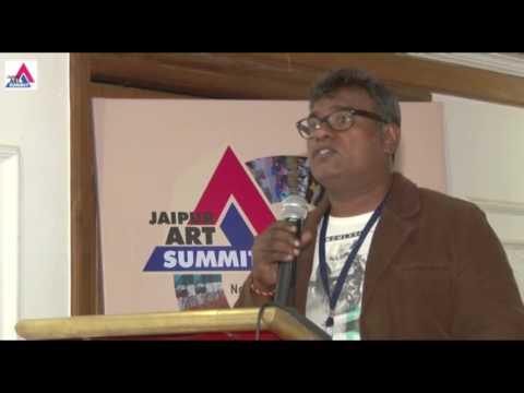 Johny M L in Jaipur Art Summit