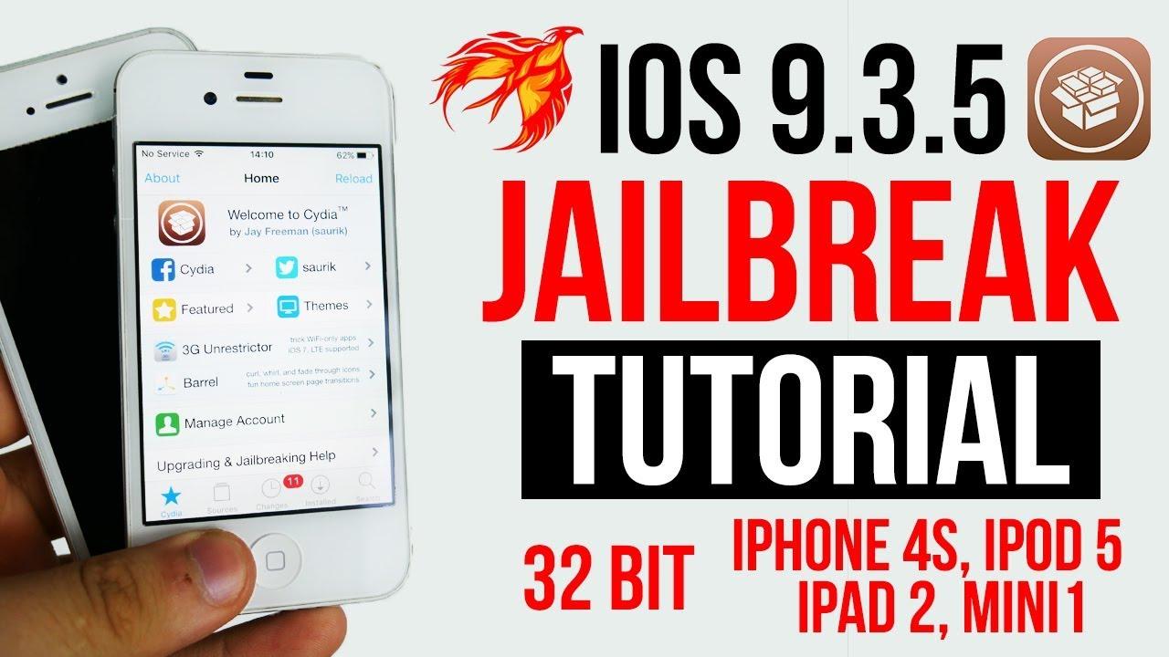 New Jailbreak IOS 9.3.5 32Bit iPhone 4s, iPod touch 5, iPad 2 ...