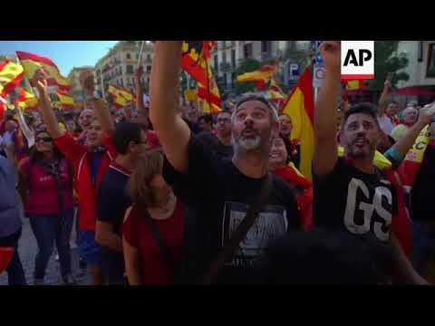 Anti-Catalan independence march in Barcelona
