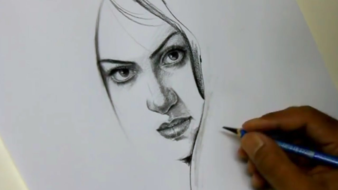 How To Draw A Pretty Face By Artist Alamgir Youtube