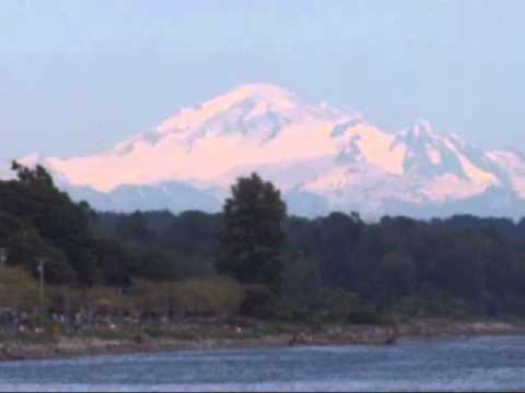 Mount Baker in the State of Washington..The Evergreen State with Rhododendron USA
