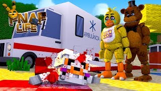 Minecraft FIVE NIGHTS AT FREDDY FAZBEAR'S LIFE-CHICA'S AND FREDDY'S BABY FELL 1000 FEET!!!