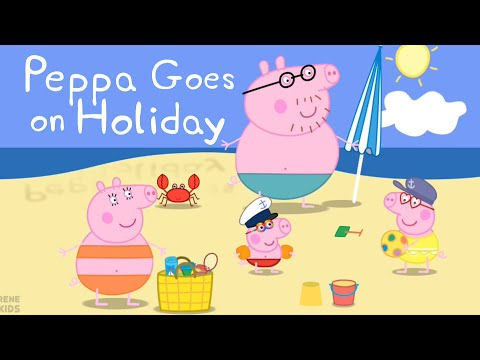 Learn Colors, Matching and Counting with Peppa Pig Holiday