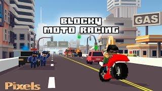 Game đua xe moto đuổi bắt cảnh sát trong thành phố - Blocky Moto Racing