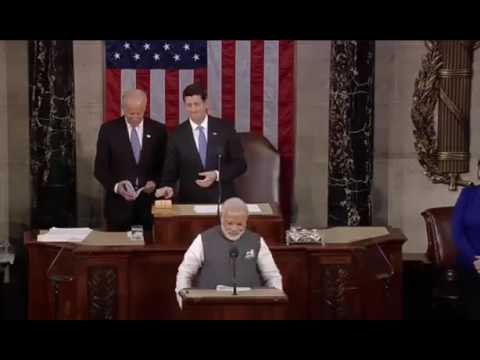Narendra Modi's speech at Joint Meeting of US Congress. part 1