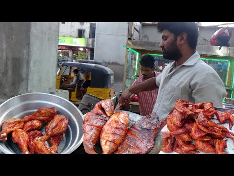 South Indian Popular Non Veg Fry @ 40 Rs Each | Sri Krishnanagar Hyderabad | Indian Street Food