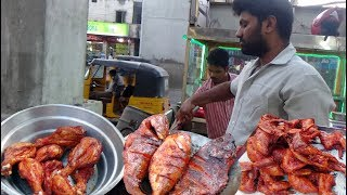 South Indian Popular Non Veg Fry @ 40 Rs Each   Sri Krishnanagar Hyderabad   Indian Street Food