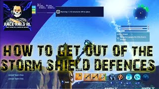 HOW TO GET OUT OF STORM SHIELD GLITCH FORTNITE SAVE THE WORLD