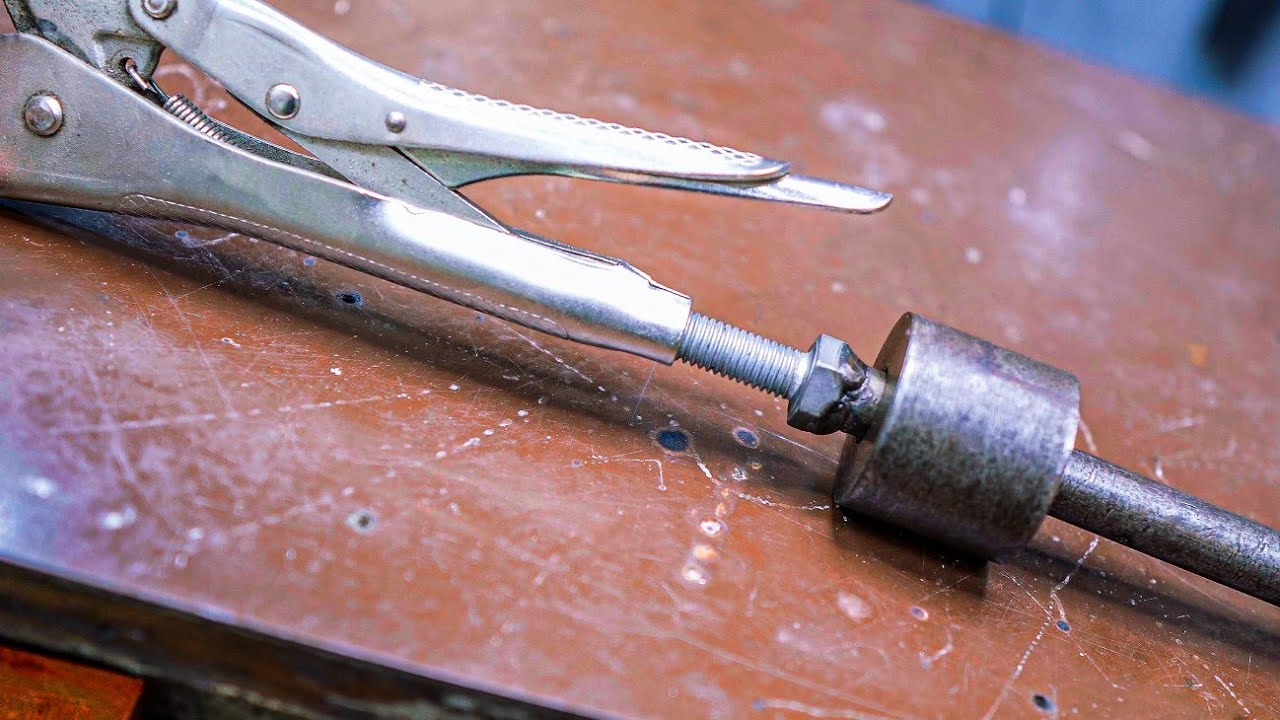 Amazing handmade tool from a grip clamp