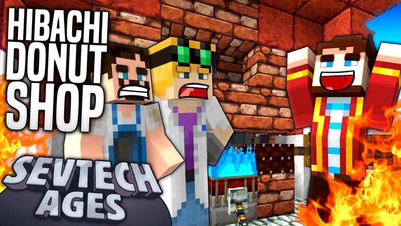 Shop 3 >> Minecraft Sevtech Hibachi Donut Shop Age 3 8 Youtube