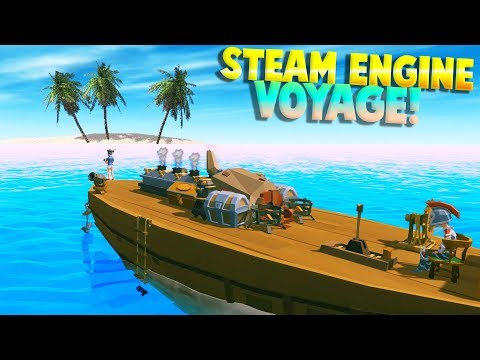AMAZING STEAM ENGINE VOYAGE! FAST SHIPS! - Ylands Gameplay - Ylands Exploration and Ship Building