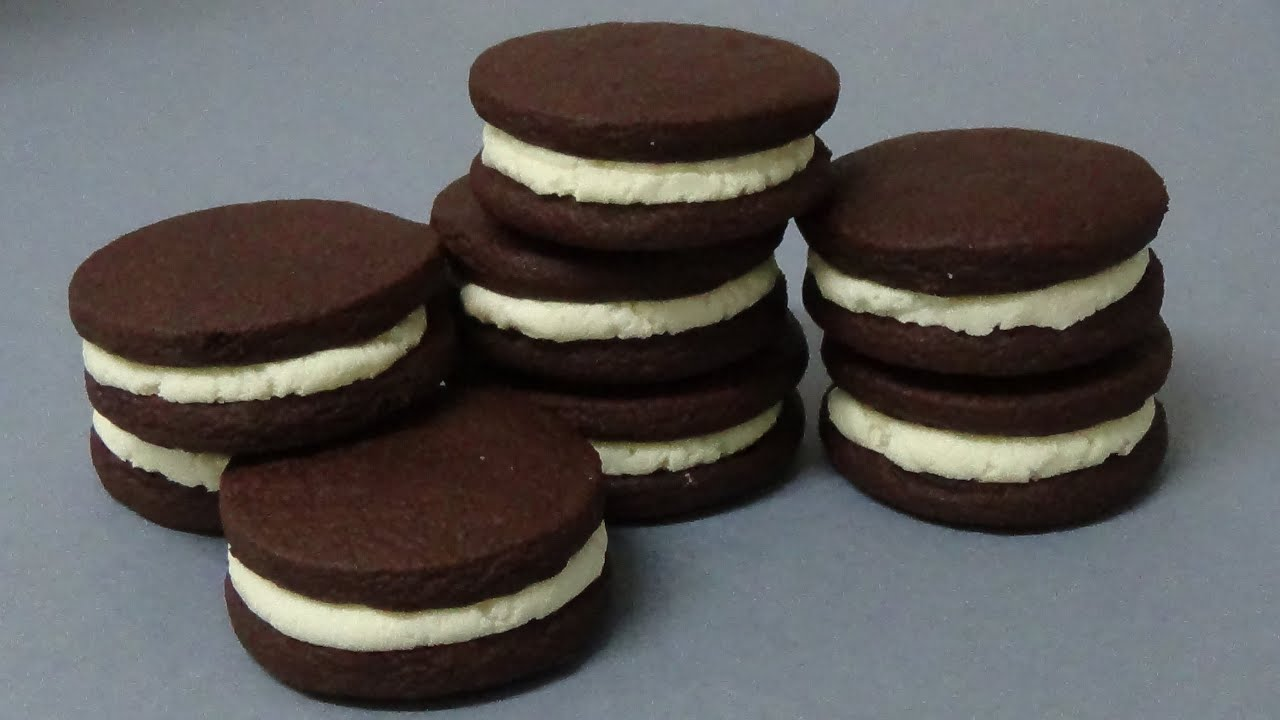 chocolate & cream biscuits - YouTube