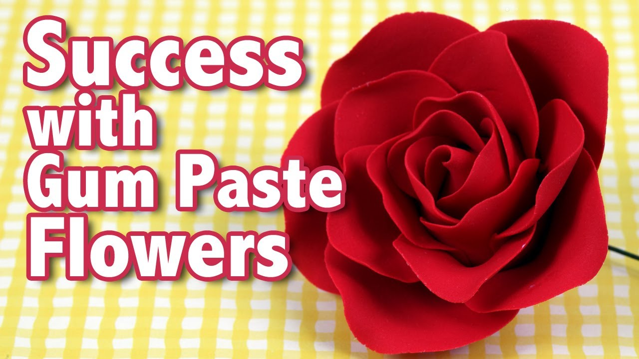 Success with Gum Paste Flowers | Cake Business Tips - YouTube