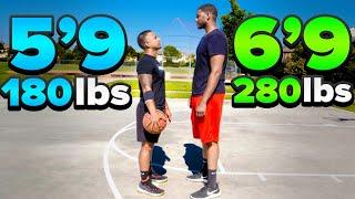 SnewJ vs 6'9 Overseas Pro 1v1 Basketball! (Heated Game)