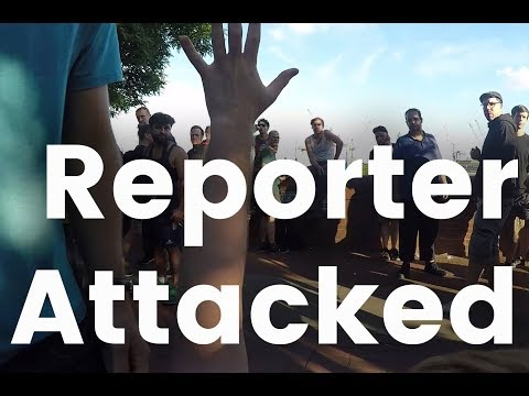 "Journalist Attacked at G20 ""Welcome to Hell"" Protest (GoPro first person perspective POV)"