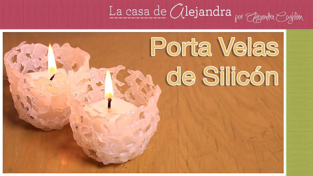 super originales porta velas de silicon diy alejandra coghlan youtube