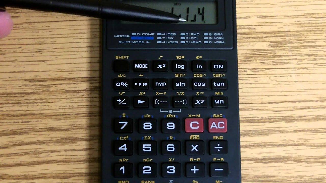 casio fx 260 calculating fractions youtube rh youtube com Casio FX 260 Solar Scientific Calculator Size Casio FX 260 Online