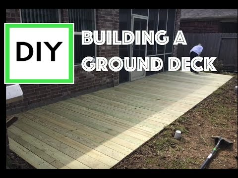 Diy For Beginners How To Build A Ground Level Deck With