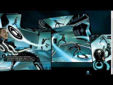 TRON Legacy - Interactive Graphic Novel Site