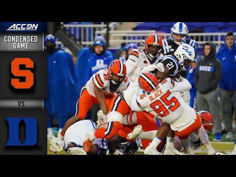 Syracuse Vs. Duke Condensed Game   ACC Football (2019-20)