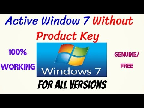 How To Activate Windows 7 Without Product Key | All Versions Genuine | Free / Permanently