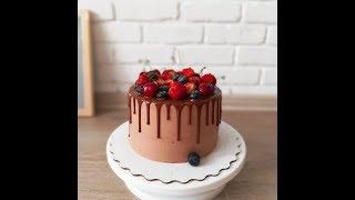 видео Шоколадно-вишнёвый торт