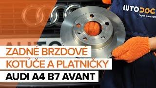 Ako vymeniť Brzdové doštičky na AUDI A4 Avant (8ED, B7) - video sprievodca