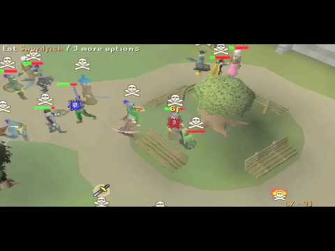 Easter Own ~ Corrupt Dragon Battle Axe PKing (F2P Runescape)