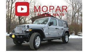 2018 Jeep Wrangler Unlimited JL Mopar All Weather Floor Mats