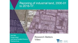Rezoning of industrial land, 2000-01 to to 2016-17