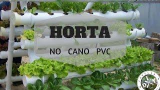 Horta de Alface no Cano PVC