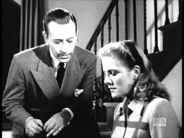 George Raft , Nocturne (1946) Film Noir scene