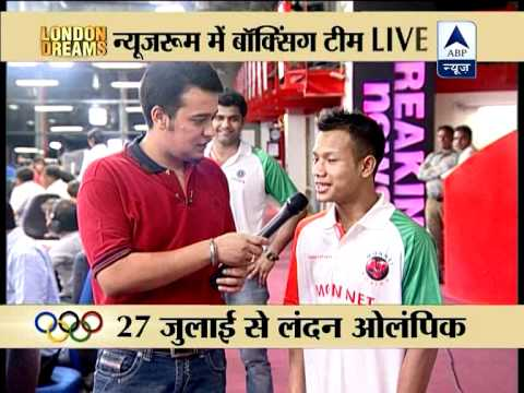 Boxers Vikas Krishan, Shiva Thapa & Devendro at ABP Newsroom, upbeat about London Dreams