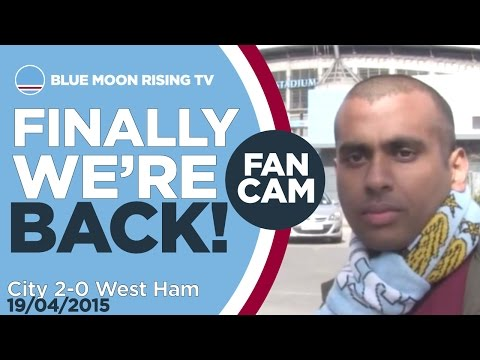 FINALLY WE'RE BACK! | Manchester City 2-0 West Ham - Goals: Collins, Aguero | FAN CAM