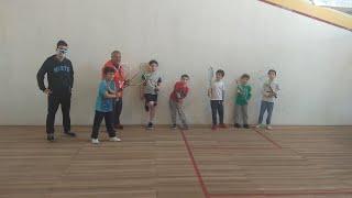 Arrancó la escuelita de squash del Club Centenario