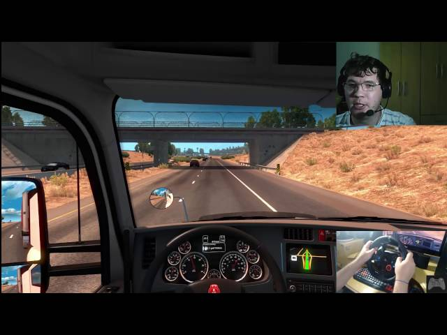 American Truck Simulator #13 gameplay com Logitech G29 + Face Cam