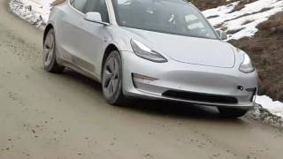 Tesla Model 3 Snow Testing in New Zealand