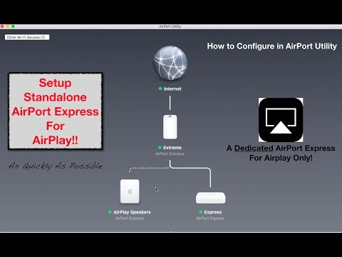 Setup AirPort Express Solely For AirPlay! (music only, with or without internet)