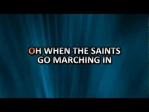 When The Saints Go Marching In HD karaoke created with Karaoke Video Creator