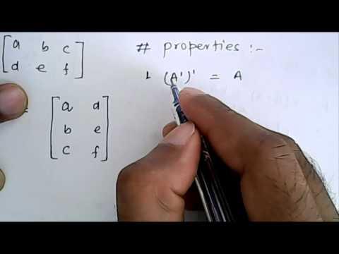Mathematics: Transpose of a Matrix