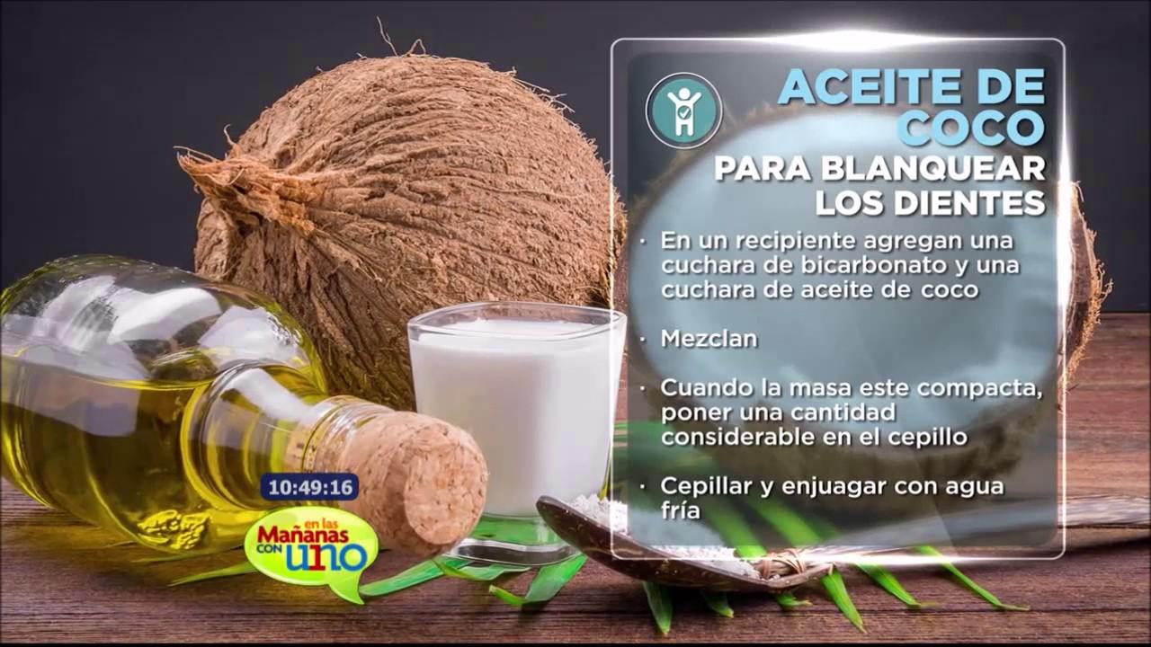 Aceite De Coco Para Blanquear Los Dientes Youtube