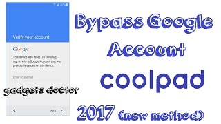 How to Bypass google account on Coolpad devices||new method||100%work||2017