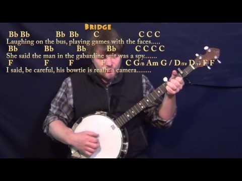 America (Simon & Garfunkel) Banjo Cover Lesson with Chords/Lyrics - Capo 2nd